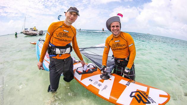 séjour coaching windsurf à Los Roques