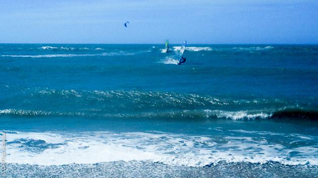 le spot de windsurf à Sao Miguel do Gostoso