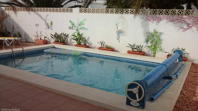Profitez de la piscine de votre villa entre deux sessions de windsurf