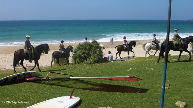 le matos sur votre pelouse face au spot de windsurf près de Tarifa