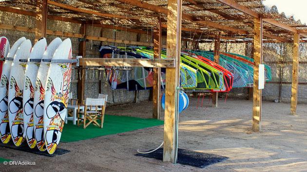 le centre de planche et windsurf à El Gouna