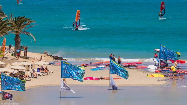 Votre spot de windsurf de rêve sur le lagon de Sotavento aux Canaries