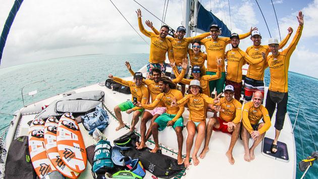 Safari windsurf en bateau privé sur les spots de los Roques, au Venezuela