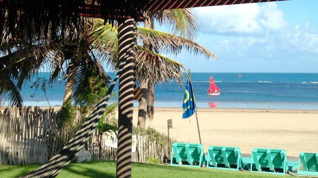 Votre pousada tout confort en face du spot de windsurf au Brésil