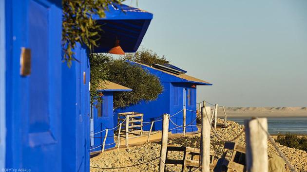 Des bungalows face à la mer à Dakhla au Maroc